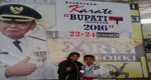 MIN DEMANGAN RAIH JUARA 3 DI KEJUARAAN KARATE BUPATI MAGETAN TAHUN 2016