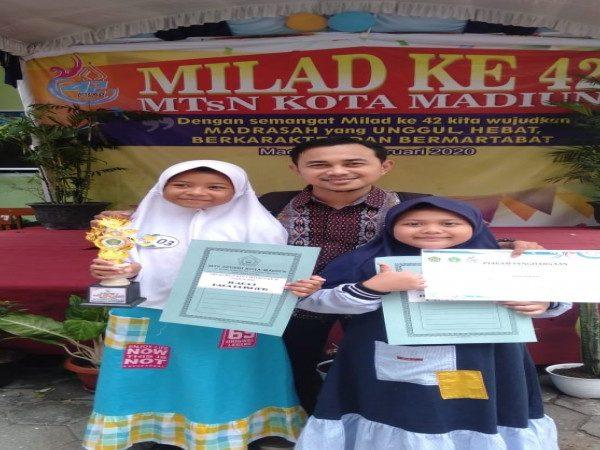 Sabet 2 Juara Puisi di HUT MTsN Kota Madiun