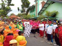 Keluarga Besar MIN 1 Kota Madiun Ikut Serta Kegiatan Gerak Jalan Memperingati HAB Kemenag