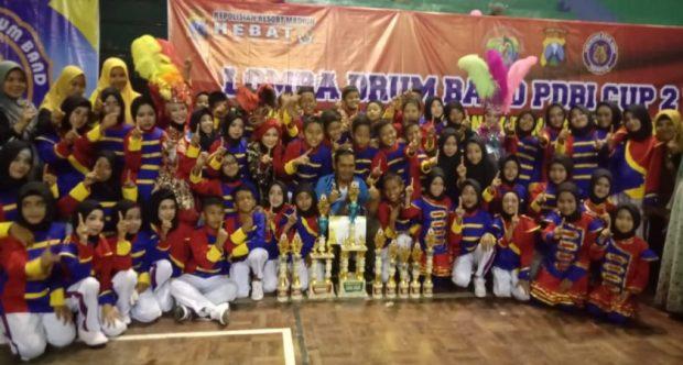 GITA PRIMA MIN 1 KOTA MADIUN JUARA UMUM DALAM AJANG LOMBA PERSATUAN DRUMBAND INDONESIA (PDBI) CUP 2 TAHUN 2019