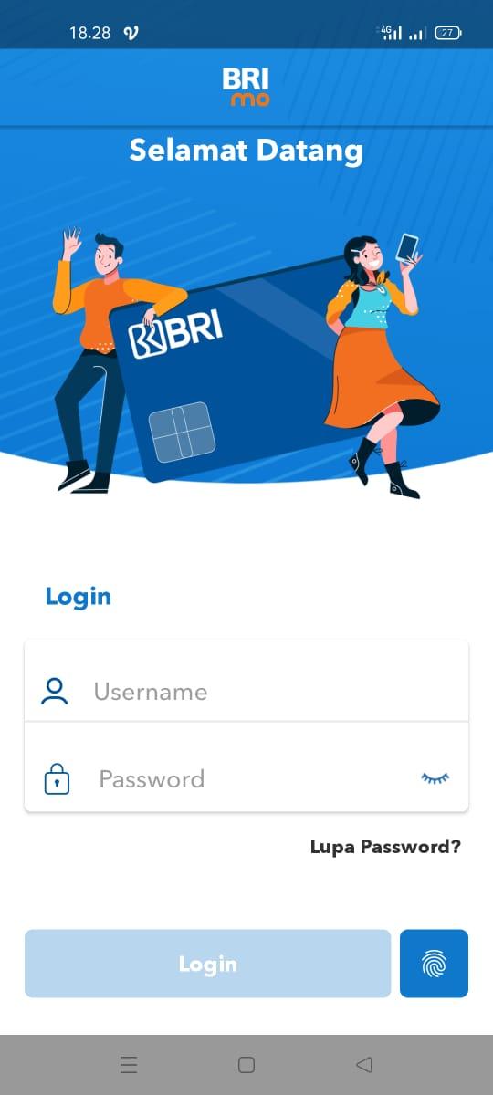 Pembayaran BRIVA dengan mobile banking BRI