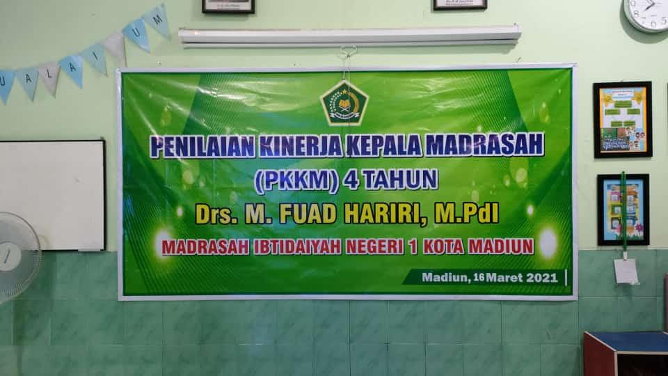 Penilaian Kinerja Kepala Madrasah (PKKM) MIN 1 Kota Madiun Tahun 2021